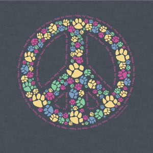 Paws For Peace - Long-Sleeve Hoodie T-Shirt - Teddy the Dog T-Shirts and Gifts