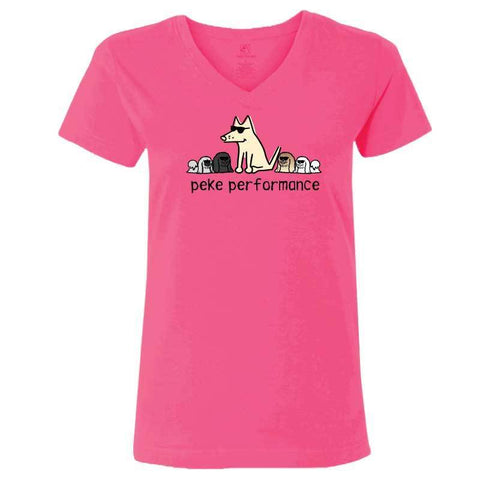 Peke Performance - Ladies T-Shirt V-Neck