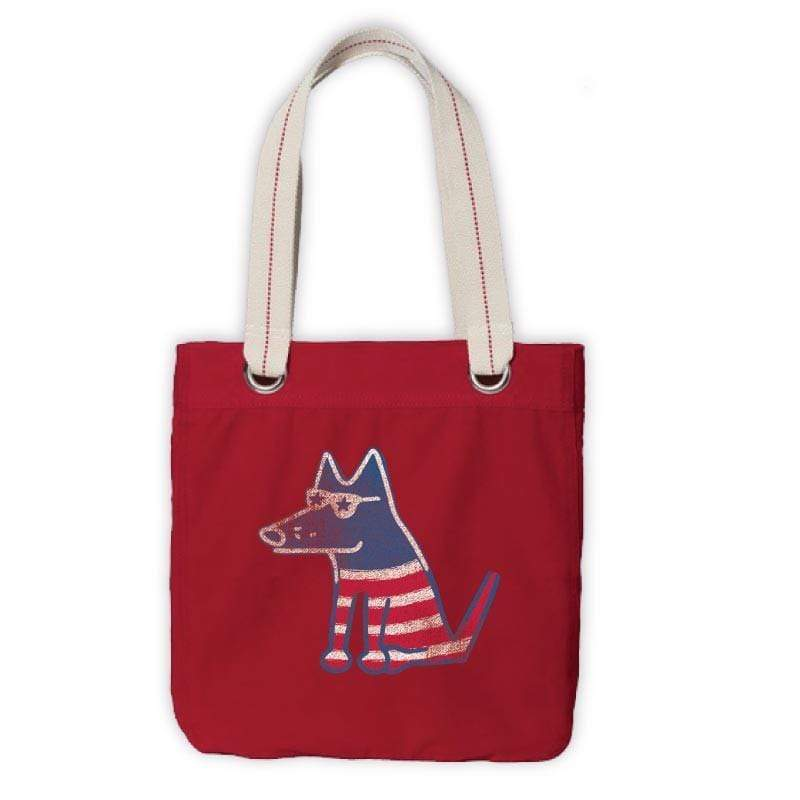 Teddy's Petriotic Canvas Tote - Teddy the Dog T-Shirts and Gifts