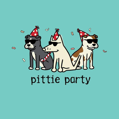 Pittie Party - Ladies Curvy V-Neck Tee
