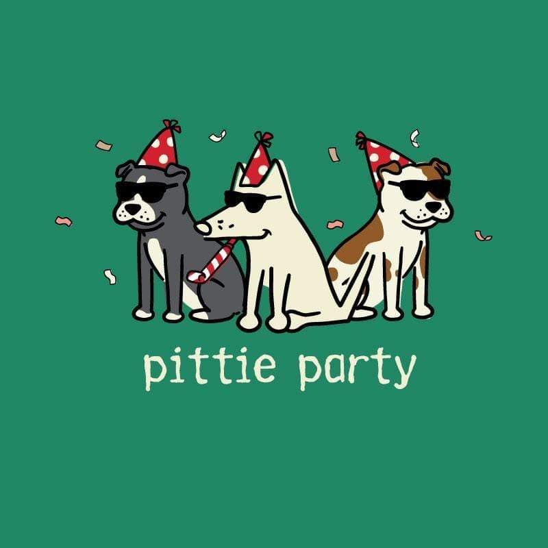 Pittie Party - Ladies T-Shirt V-Neck