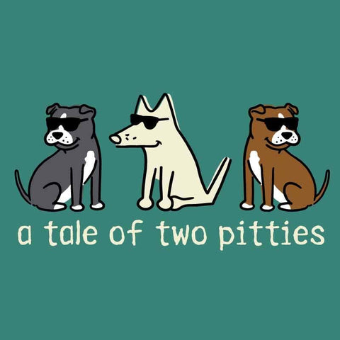 A Tale Of Two Pitties - Ladies T-Shirt 3-4 Sleeve