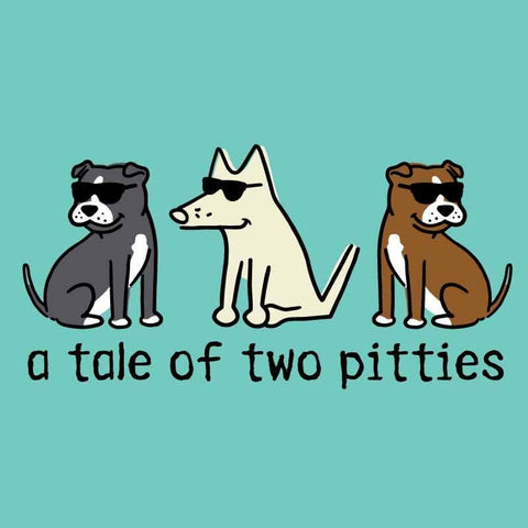 A Tale Of Two Pitties - Ladies Curvy V-Neck Tee