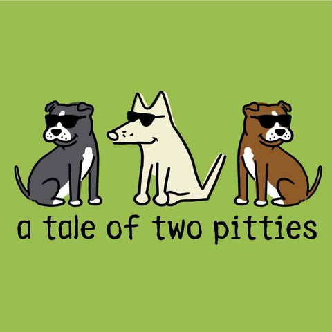 A Tale Of Two Pitties - Canvas Tote