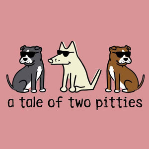 A Tale Of Two Pitties  - Ladies T-Shirt V-Neck