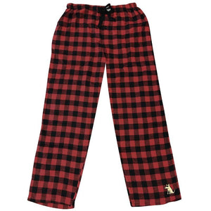 Teddy's Plaid Flannel Pants - Buffalo Plaid