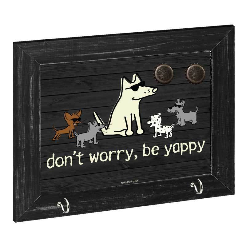 Don't Worry Be Yappy - Magnetic Board - Teddy the Dog T-Shirts and Gifts