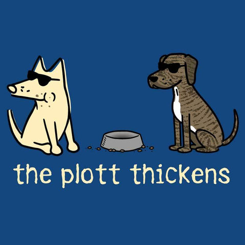 The Plott Thickens - Ladies Curvy V-Neck Tee