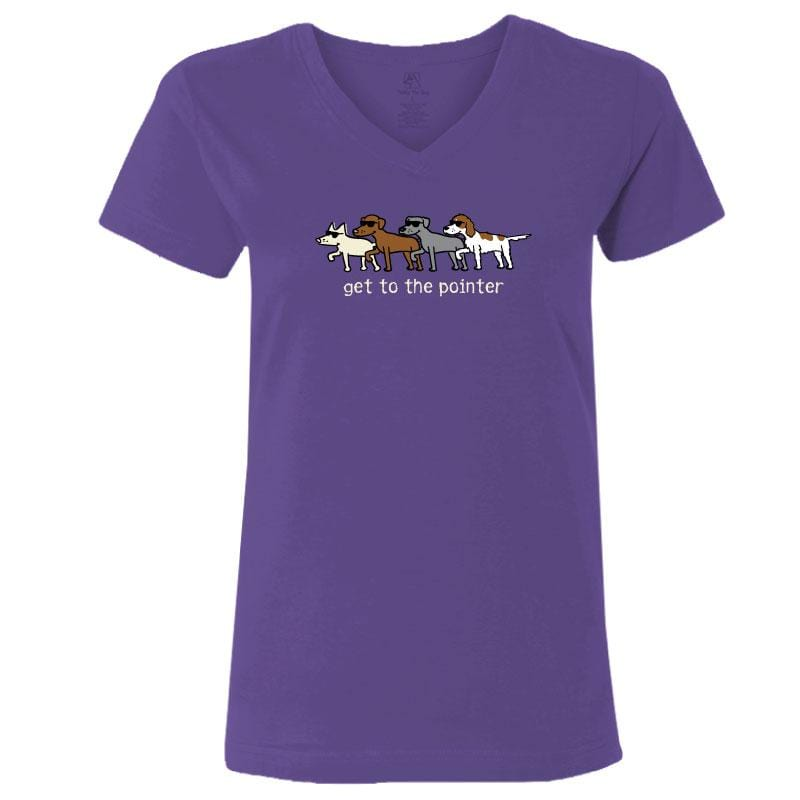 Get To The Pointer - Ladies T-Shirt V-Neck