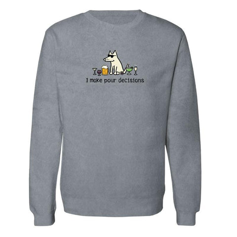 I Make Pour Decisions - Crew Neck Sweatshirt