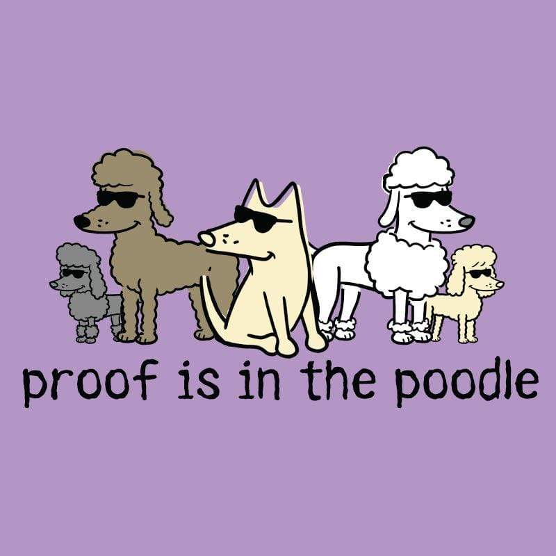 Proof Is In The Poodle - Ladies T-Shirt V-Neck