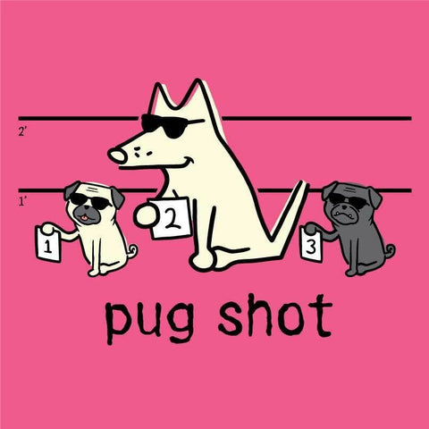 Pug Shot - Ladies T-Shirt V-Neck