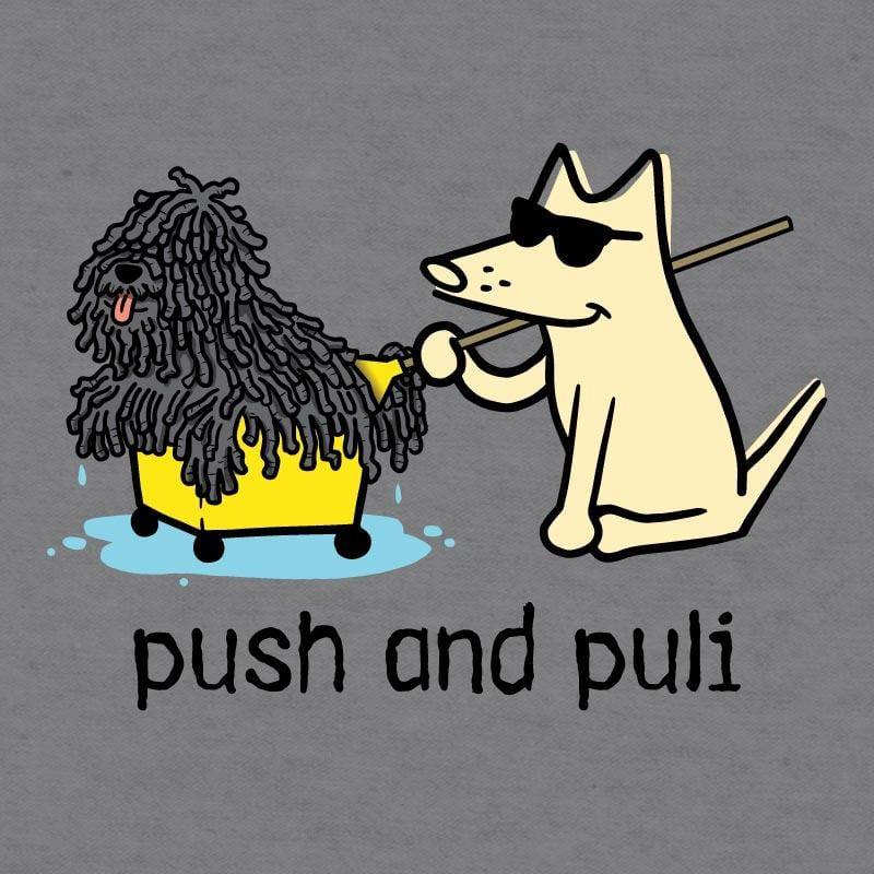 Push And Puli - Ladies Curvy V-Neck Tee