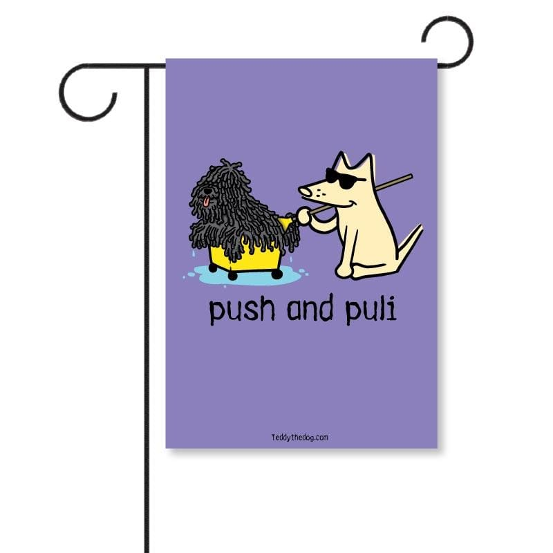 Push And Puli - Garden Flag