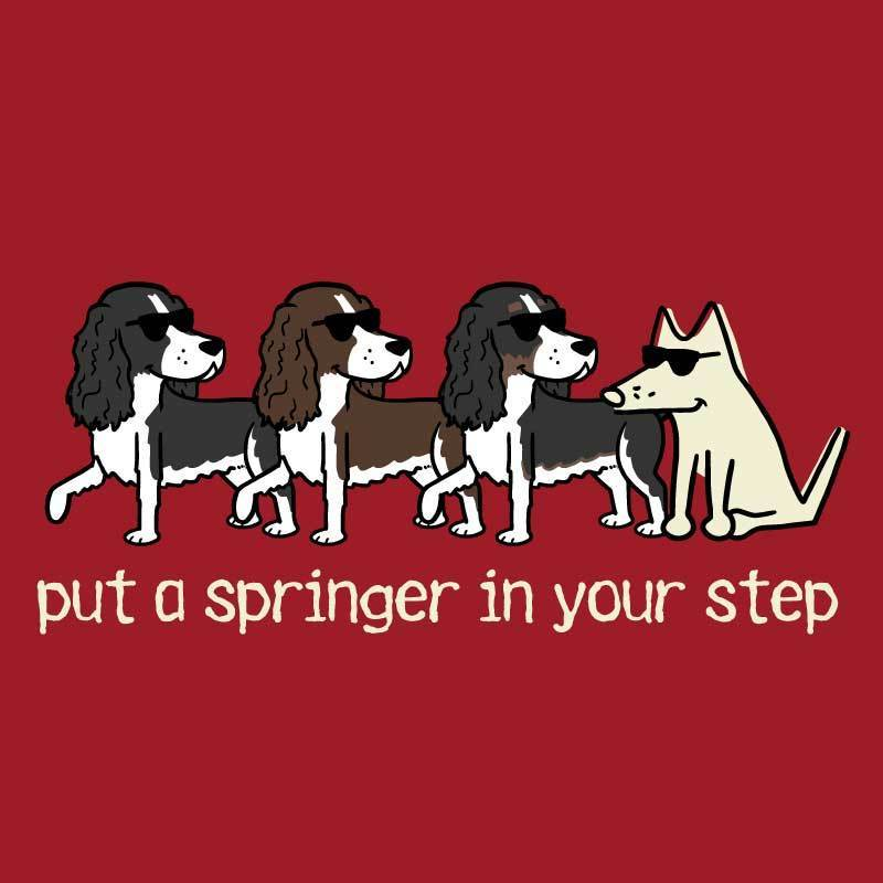 Put A Springer in Your Step - Ladies T-Shirt V-Neck