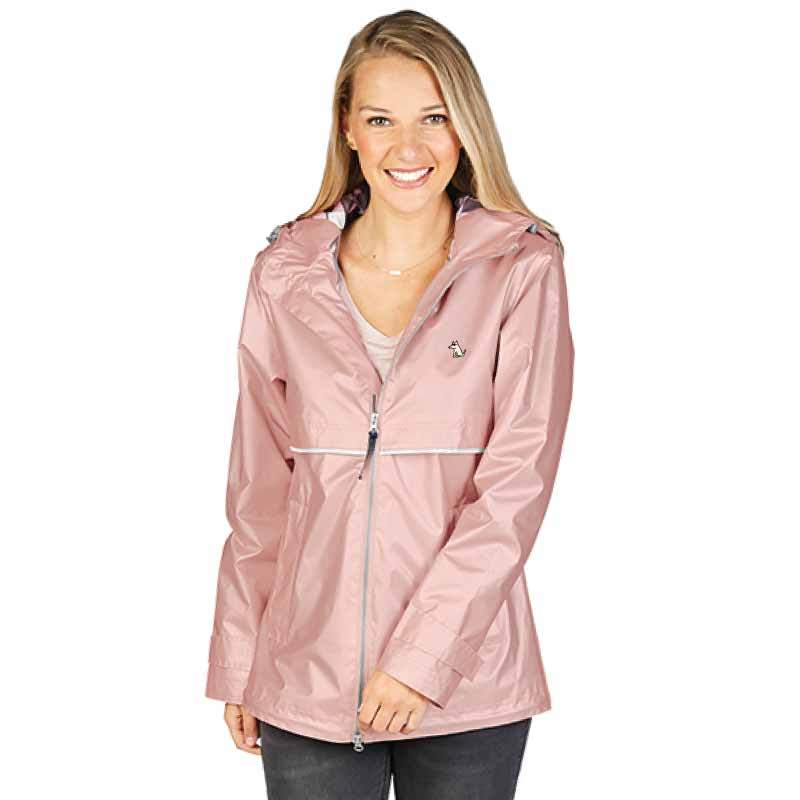 Ladies Rose Gold Rain Jacket