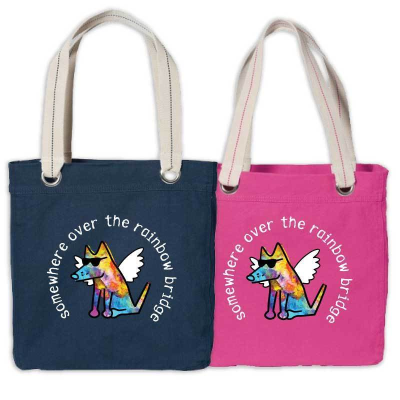 Somewhere Over The Rainbow Bridge - Canvas Tote