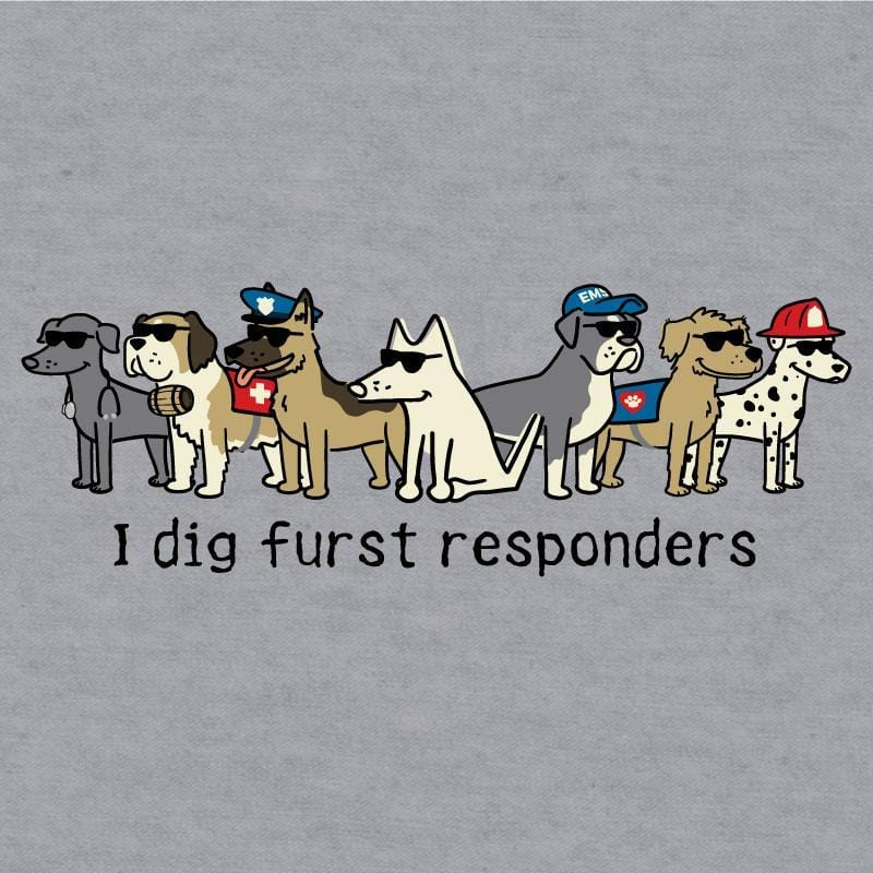 I Dig Furst Responders Baseball T-Shirt - Teddy the Dog T-Shirts and Gifts