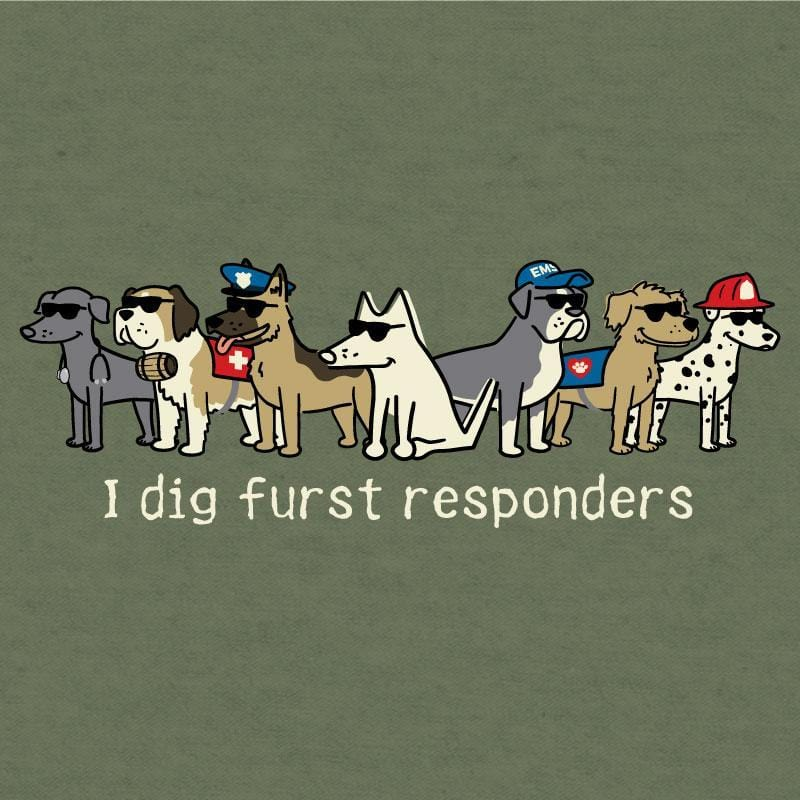 I Dig Furst Responders - Lightweight Tee - Teddy the Dog T-Shirts and Gifts