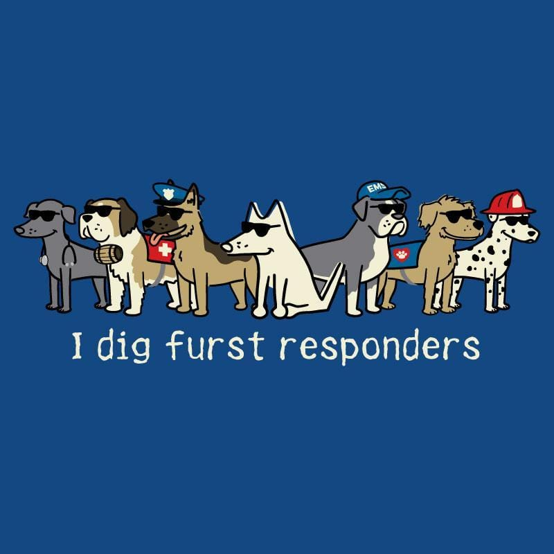 I Dig Furst Responders - Ladies T-Shirt V-Neck