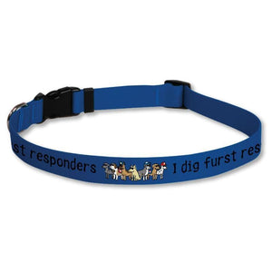 I Dig Furst Responders Dog Collars - Teddy the Dog T-Shirts and Gifts