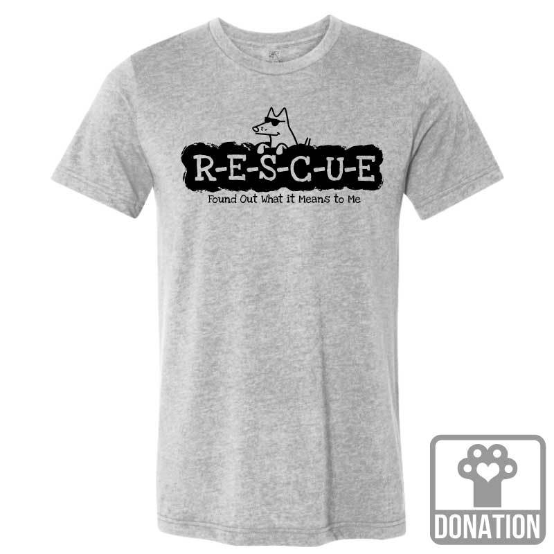 R-E-S-C-U-E Found Out What It Means To Me - Lightweight Tee