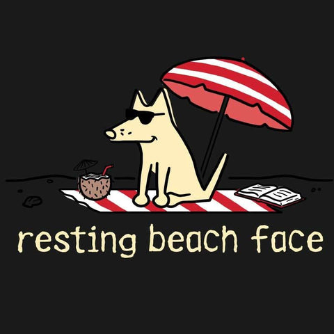 Resting Beach Face - Ladies Tank Top