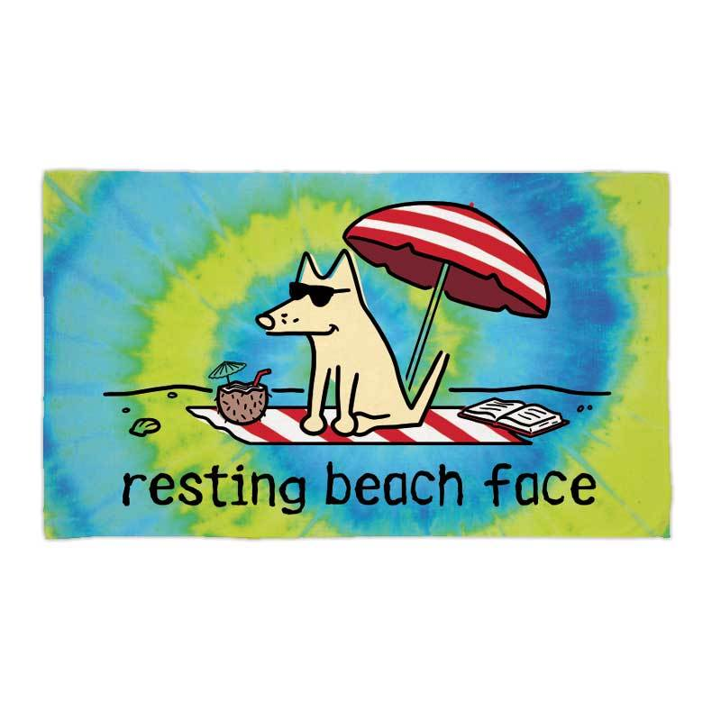 Resting Beach Face - Beach Towel