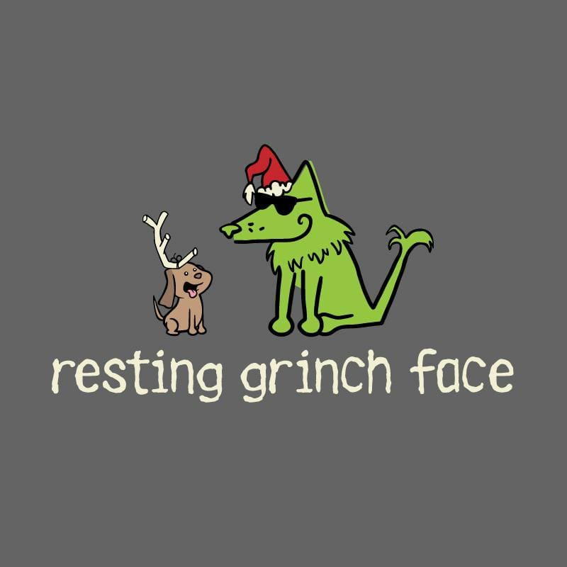 Resting Grinch Face - Ladies Long-Sleeve T-Shirt