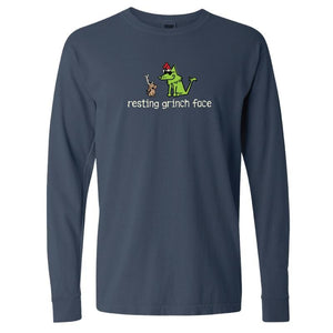 Resting Grinch Face - Classic Long-Sleeve T-Shirt