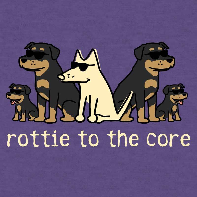 Rottie To The Core - Long-Sleeve Hoodie T-Shirt