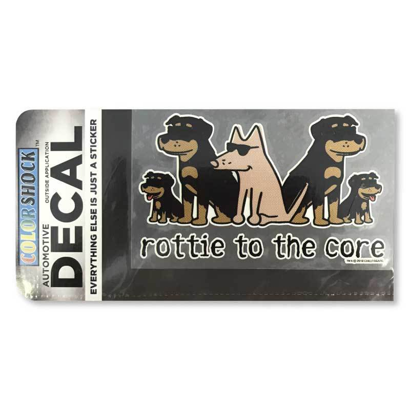 Rottie To The Core - Decal
