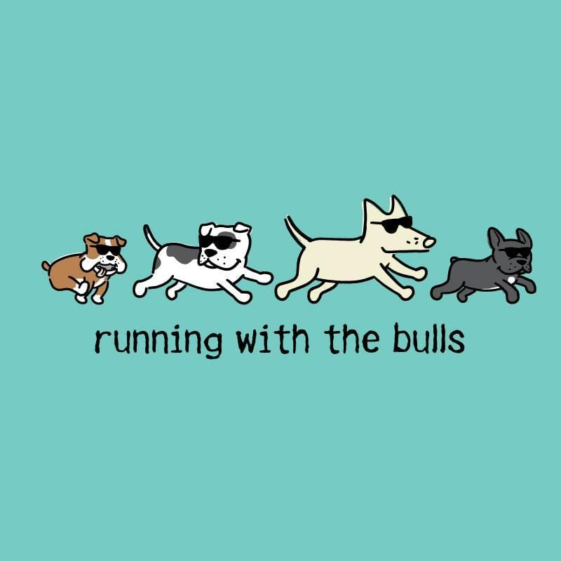 Running With The Bulls Ladies Curvy V-Neck Tee