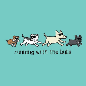 Running With The Bulls - Ladies Curvy V-Neck Tee