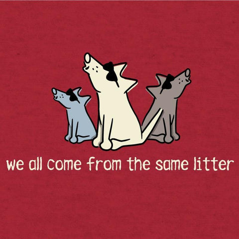 We All Come From the Same Litter - Long-Sleeve Hoodie T-Shirt - Teddy the Dog T-Shirts and Gifts