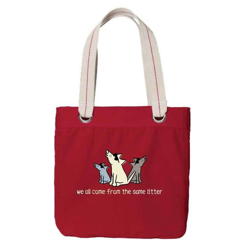 We All Come From The Same Litter - Canvas Tote