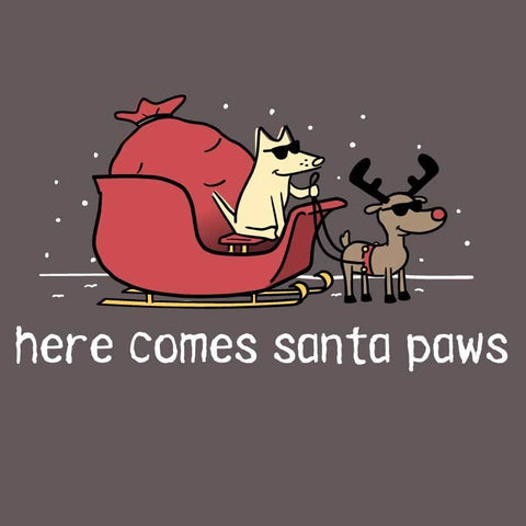 Here Comes Santa Paws - Youth Long Sleeve T-Shirt