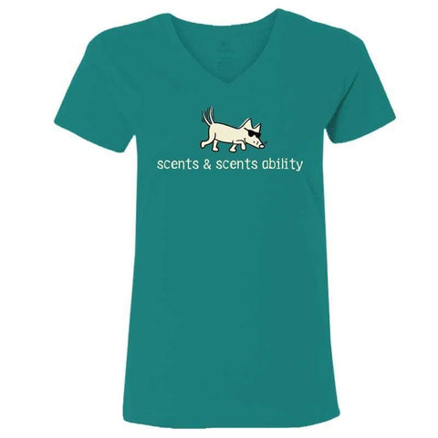 Scents & Scents Ability - Ladies T-Shirt V-Neck
