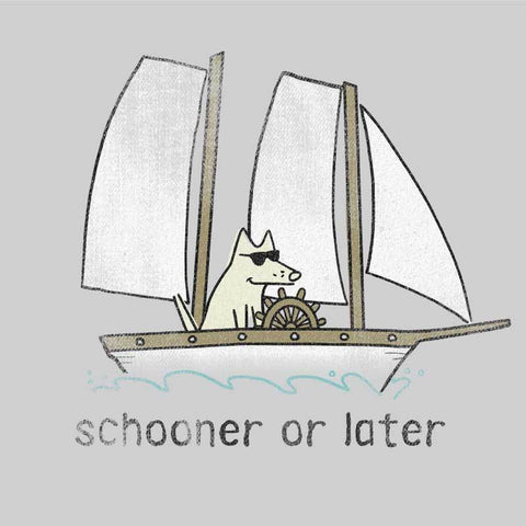 Schooner or Later -  Long-Sleeve Performance T-Shirt