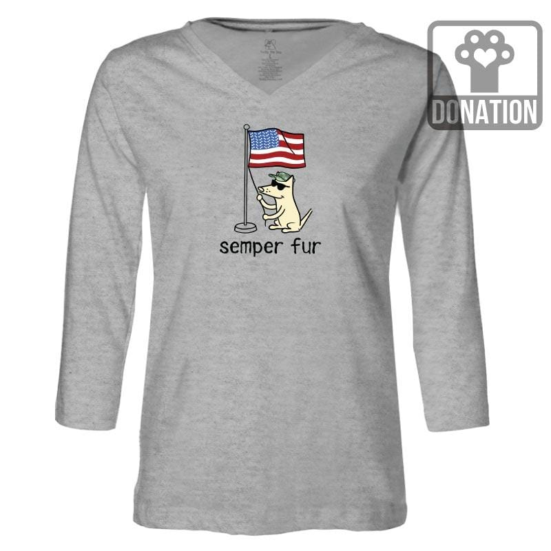Semper Fur - Ladies T-Shirt 3-4 Sleeve