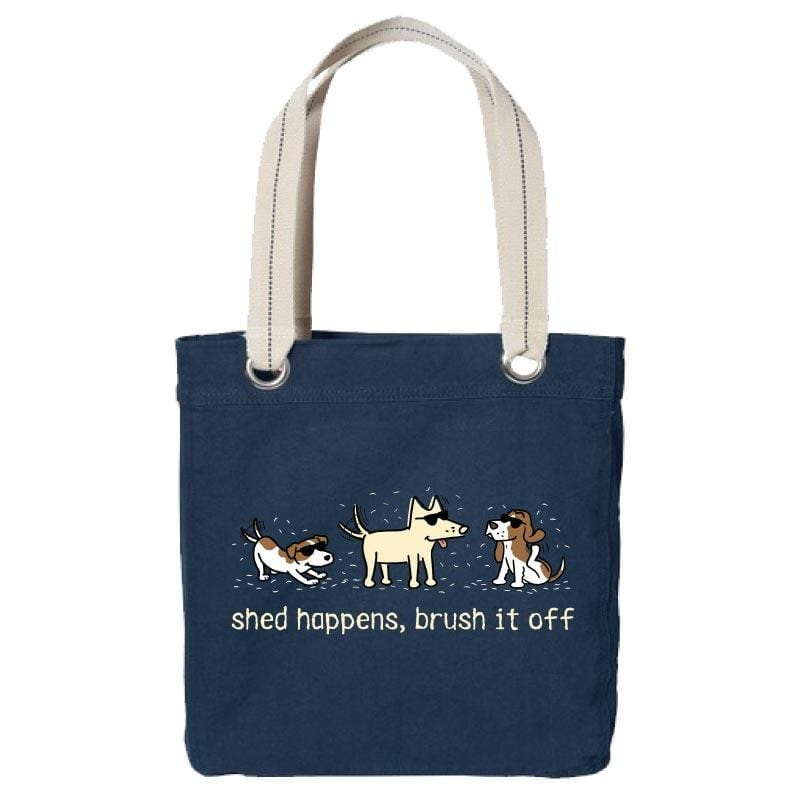 Shed Happens, Brush It Off - Canvas Tote
