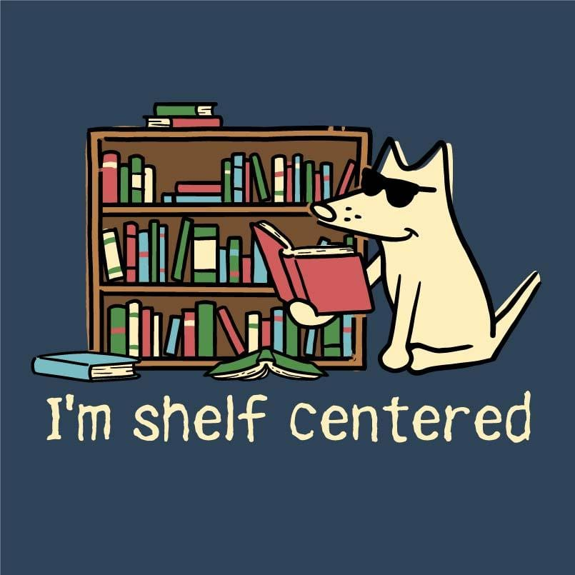 I'm Shelf Centered - Ladies T-Shirt V-Neck