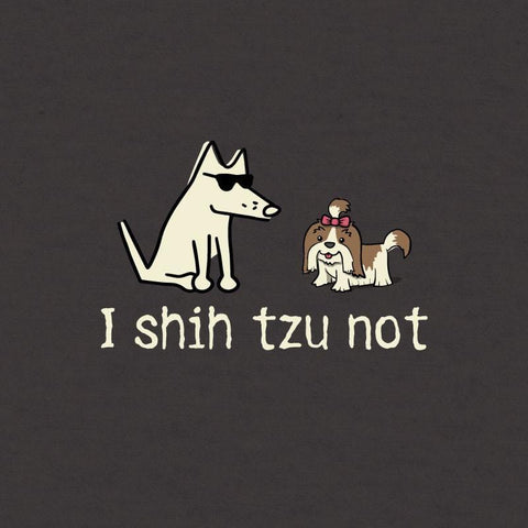 I Shih Tzu Not - Ladies Curvy V-Neck Tee - Teddy the Dog T-Shirts and Gifts