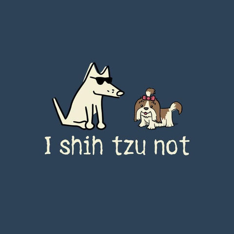 I Shih Tzu Not - Ladies T-Shirt V-Neck - Teddy the Dog T-Shirts and Gifts