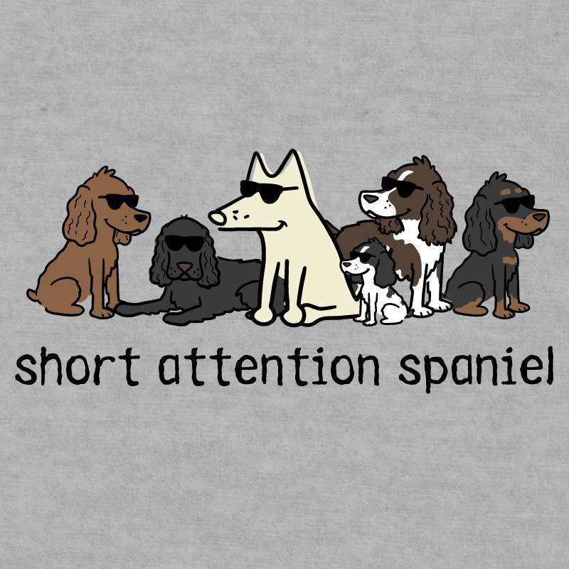 Short Attention Spaniel - Ladies T-Shirt V-Neck