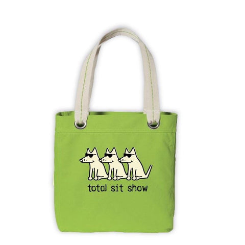 Teddy's Total Sit Show Canvas Tote - Teddy the Dog T-Shirts and Gifts