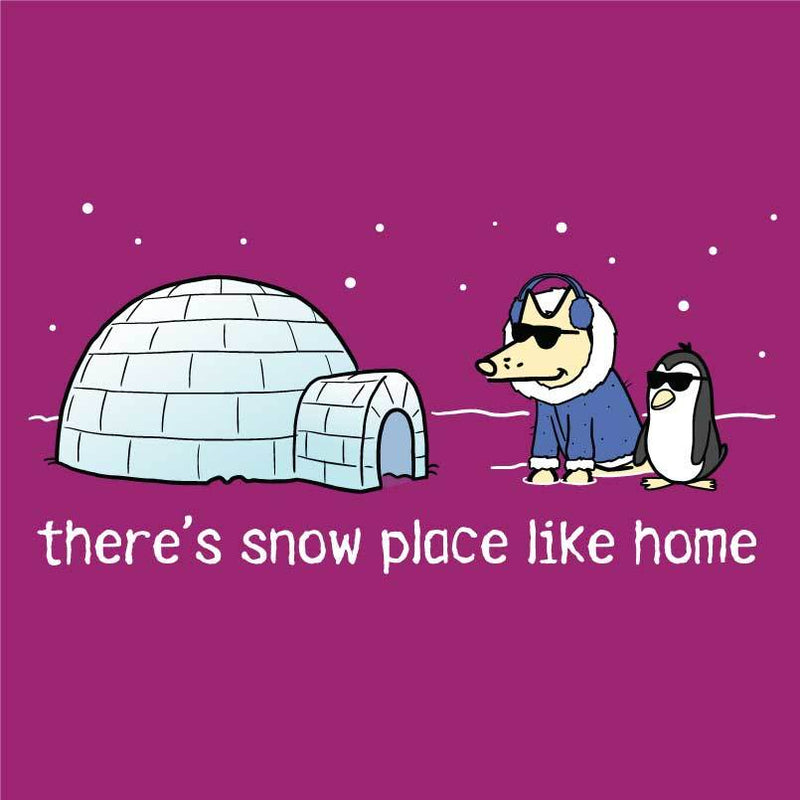There's Snow Place Like Home - Ladies T-Shirt V-Neck