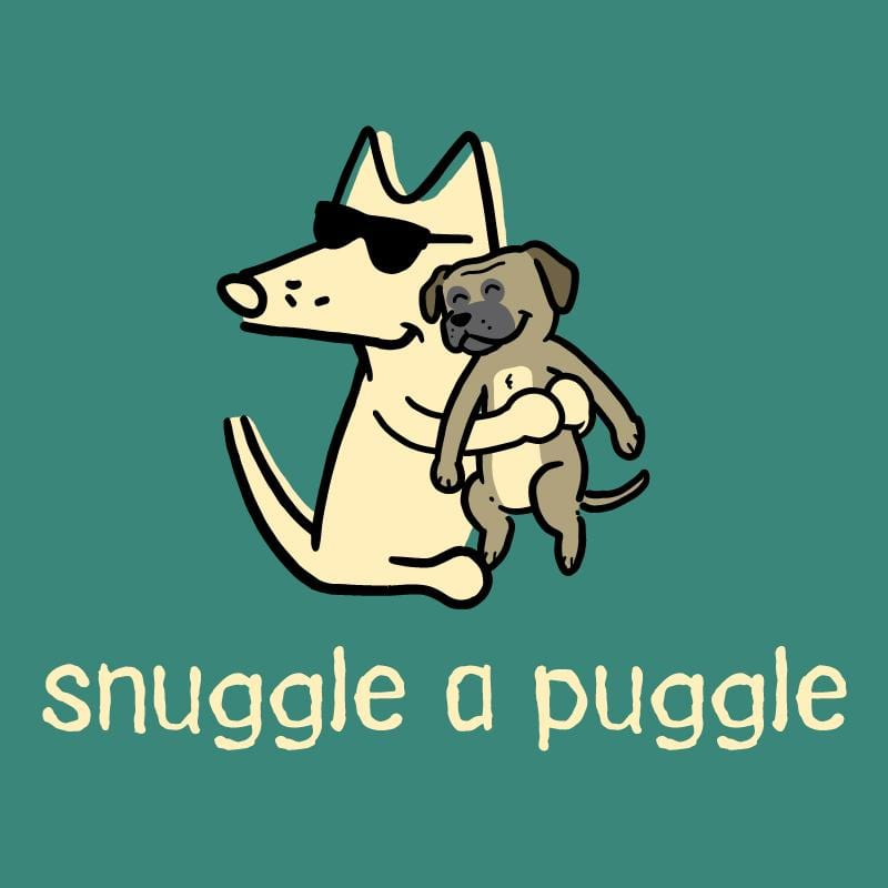 Snuggle A Puggle - Ladies T-Shirt 3-4 Sleeve