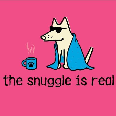the snuggle is real night t-shirt