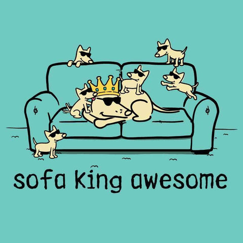 Sofa King Awesome - Ladies T-Shirt V-Neck